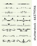 set of design elements in... | Shutterstock .eps vector #66379546