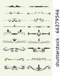 set of design elements in... | Shutterstock .eps vector #66379546