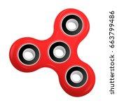 hand spinner flat vector... | Shutterstock .eps vector #663799486