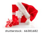 christmas presents and hat... | Shutterstock . vector #66381682