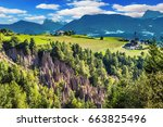renon's earth pillars at... | Shutterstock . vector #663825496
