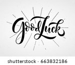 Hand Sketched Good Luck...