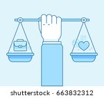 vector flat linear illustration ... | Shutterstock .eps vector #663832312