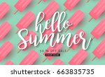 summer sale background layout...   Shutterstock .eps vector #663835735