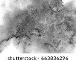gray watercolor background | Shutterstock . vector #663836296