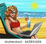 vector illustration of woman in ...   Shutterstock .eps vector #663841606