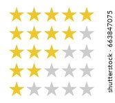star rating symbols with 5 star.... | Shutterstock .eps vector #663847075