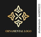 luxury ornamental logotype.... | Shutterstock .eps vector #663850222