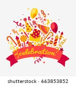 happy birthday tools | Shutterstock .eps vector #663853852