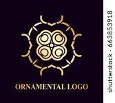 luxury ornamental logotype.... | Shutterstock .eps vector #663853918