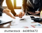 young business man and partner... | Shutterstock . vector #663856672