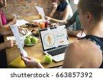 wellness wellbeing health... | Shutterstock . vector #663857392