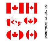 vector illustration of canada... | Shutterstock .eps vector #663857722