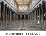 Rome  Italy. Interior Of Papal...