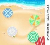 summer background  banner with...   Shutterstock .eps vector #663879166