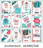 set of modern sale banners... | Shutterstock .eps vector #663882568