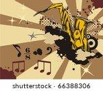 grunge music instrument...   Shutterstock .eps vector #66388306