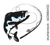 fish swallows bait vector for...   Shutterstock .eps vector #663886432