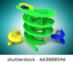 Aqua Park Water Carousels Gree...