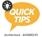 quick tips badge  banner vector ... | Shutterstock .eps vector #663888145