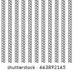 seamless weaving  vector... | Shutterstock .eps vector #663892165