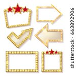 big set of retro frames with... | Shutterstock .eps vector #663892906