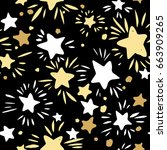 star seamless pattern.textile...   Shutterstock .eps vector #663909265