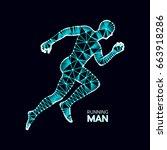3d running man. design for... | Shutterstock .eps vector #663918286
