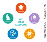 set icons allergen. group of... | Shutterstock .eps vector #663937375