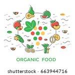 digital green red yellow... | Shutterstock .eps vector #663944716