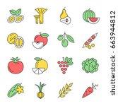 digital green red yellow... | Shutterstock .eps vector #663944812