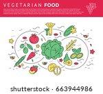 digital green red vegetable... | Shutterstock .eps vector #663944986