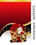 Banner Of Santa Claus On Sleigh ...