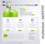 vector grey green website with... | Shutterstock .eps vector #66395797