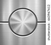 metal technology background... | Shutterstock .eps vector #663967612