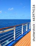 sea view from cruise ship open... | Shutterstock . vector #663974116