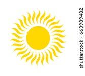 sun icon | Shutterstock . vector #663989482