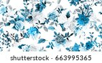 wide vintage seamless... | Shutterstock .eps vector #663995365