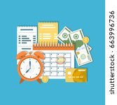 tax payment day concept. income ... | Shutterstock . vector #663996736