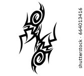 tribal tattoo art designs.... | Shutterstock .eps vector #664013416