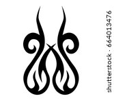 tribal tattoo art designs.... | Shutterstock .eps vector #664013476