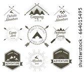 camping vector design  | Shutterstock .eps vector #664015495