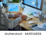 close up shot of financial... | Shutterstock . vector #664016836