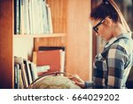 education travel and geography... | Shutterstock . vector #664029202