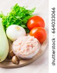 fresh ingredients for zucchini...