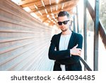 young business man in... | Shutterstock . vector #664034485