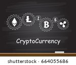 cryptocurrency and blockchain... | Shutterstock .eps vector #664055686