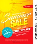 summer sale template banner ... | Shutterstock .eps vector #664059376