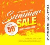 summer sale template banner ... | Shutterstock .eps vector #664059466