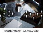 human resource management  hr ... | Shutterstock . vector #664067932